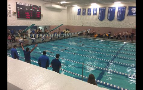 For those who don't go to sporting events: this is a swim meet.