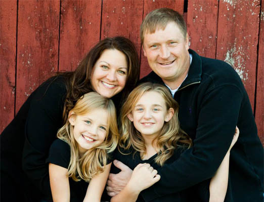 Mrs. Fredrickson with her husband and two nieces