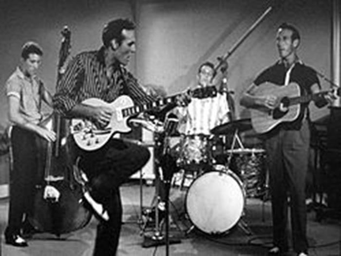 Carl Perkins performs at the 1957 film Jamboree.