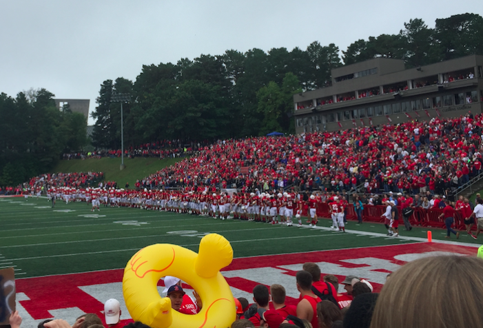 The Johnnie's fan section.