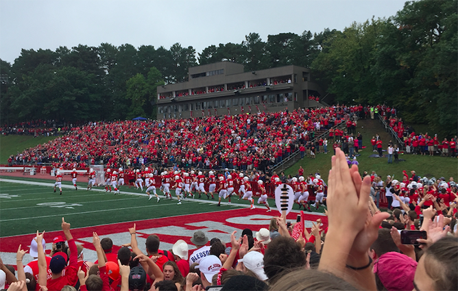 St. Johns takes the field.