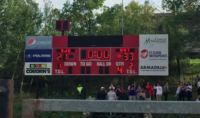 Final score of the game, 33-21.