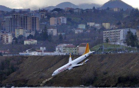 Plane slides off runway in Turkey