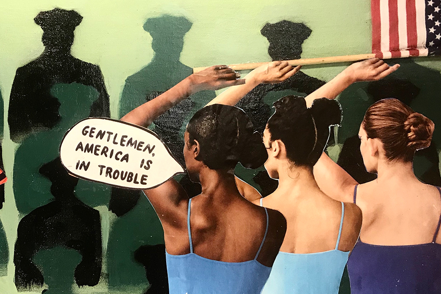America is In Trouble, a painting by Alexis Venables