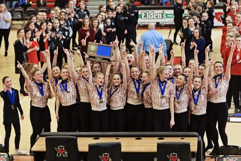 Dance team sweeps at sections