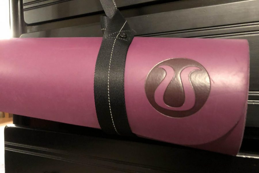 A photo of a yoga mat.