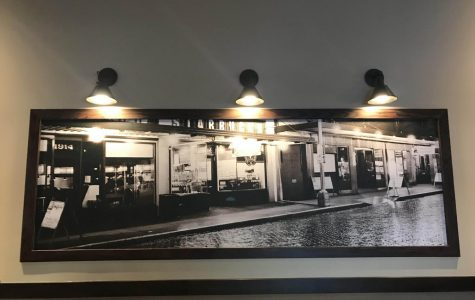 Photography on the wall of a Starbucks cafe.