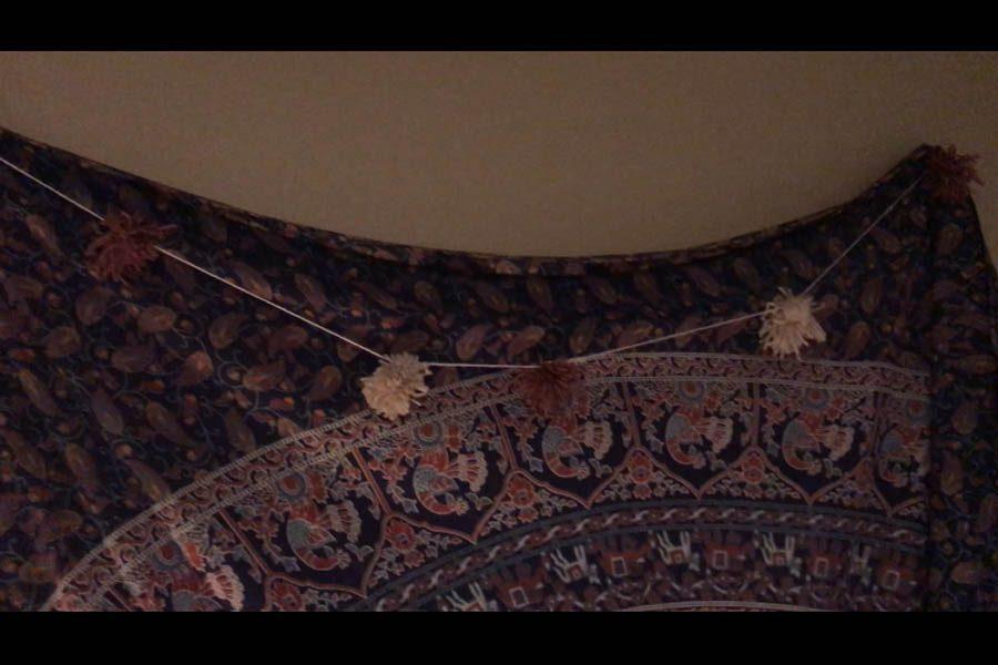 Puffball+string+decoration