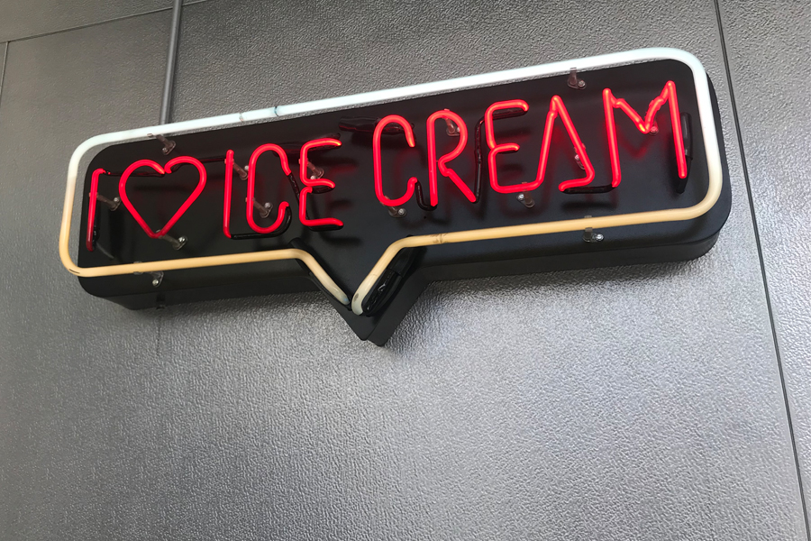Ice cream sign