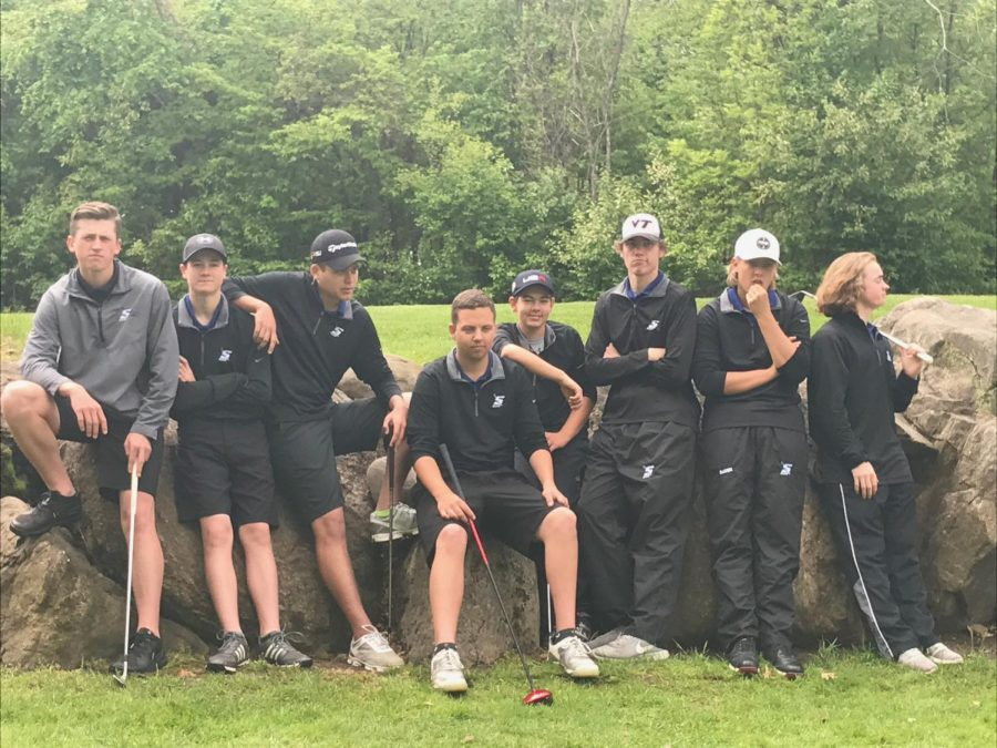 SHS golf team last year at team pictures.