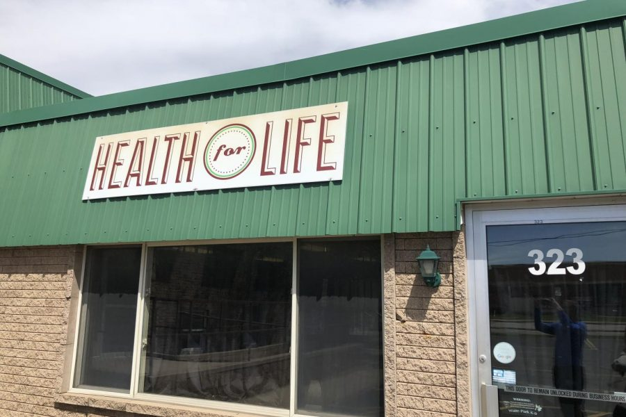 Sign outside of Health for Life.