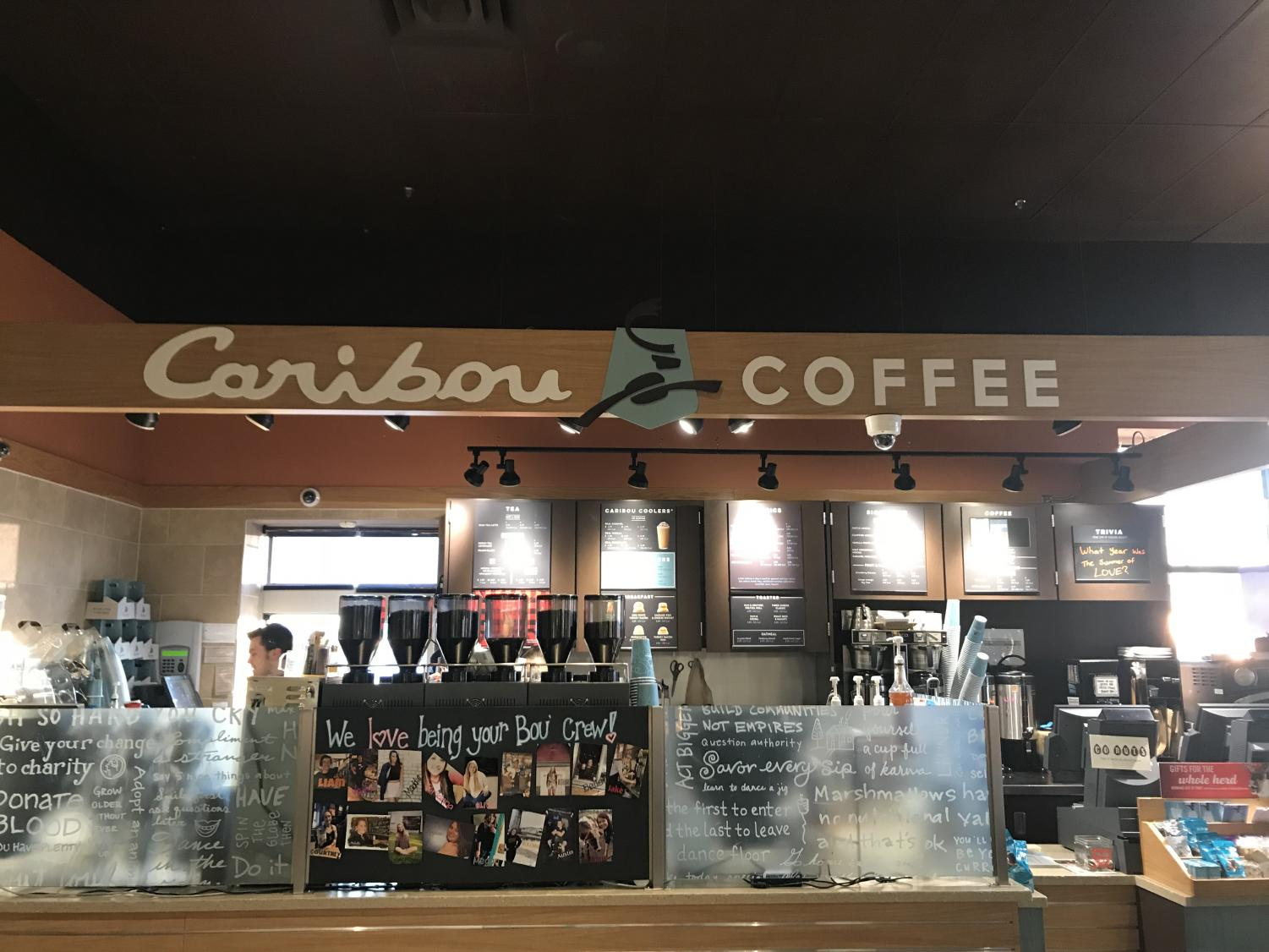 The interior of Sartell's Caribou Coffee