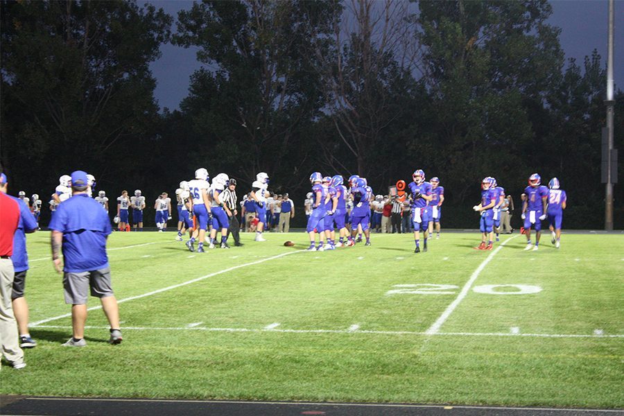 Sabres play versus Eagles under the Apollo Friday night lights on September 14th, 2018.