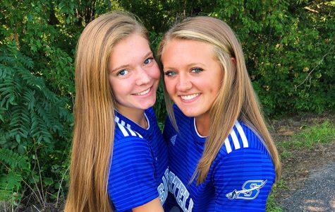 Brenna and Morgan at Soccer.