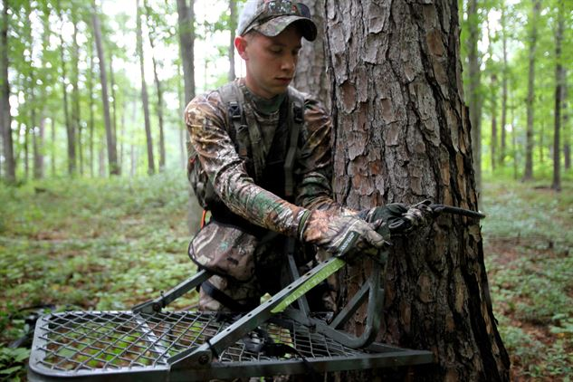 Many sartell students sat in tree stands similar to this one.
