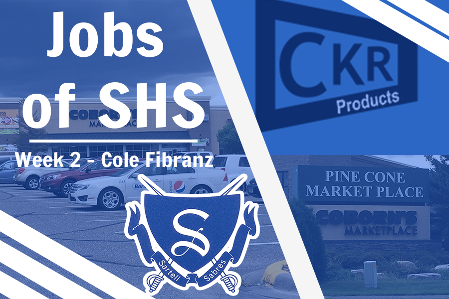 Sartell+High+School+Senior+Cole+Fribranz+is+featured+in+the+2nd+installment+of+Jobs+of+Sartell+High+School.+Cole+is+employed+by+CKR+Products+and+was+at+Coborns.