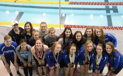 Girls swim team represents Sartell at state meet