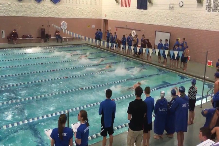 Great+race+by++the+Sabres+winning+the+200+free+relay