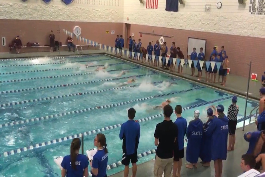 Great race by  the Sabres winning the 200 free relay