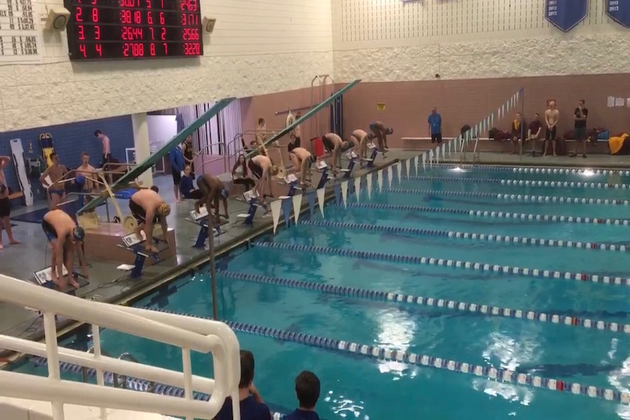 Last ever dual meet at the Sartell High School Pool