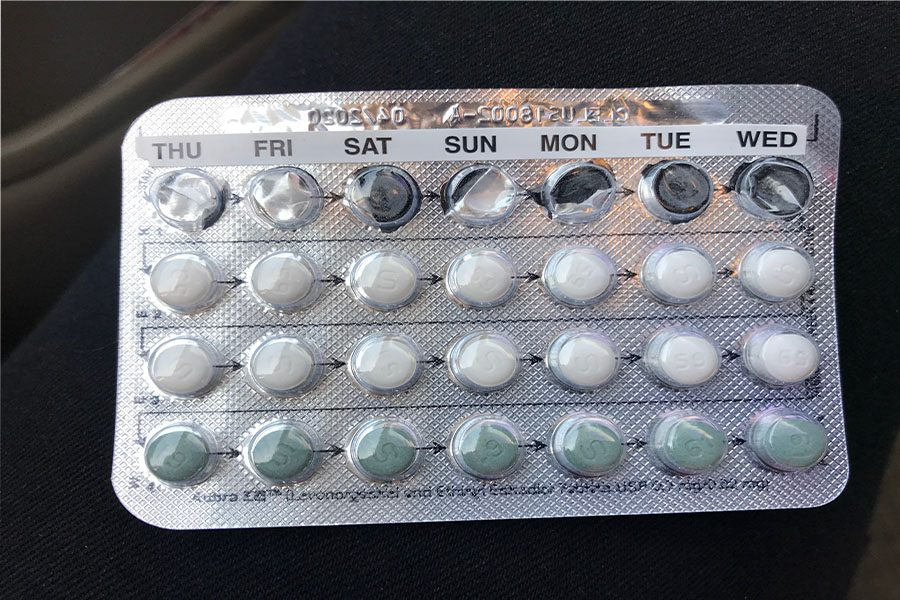 Pack of birth control.