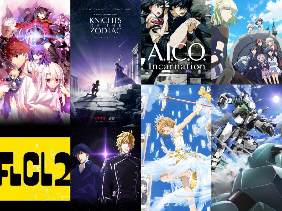 Collage of different popular anime's.