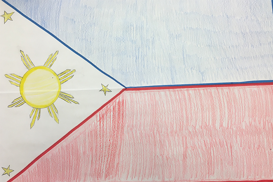 This is the Filipino flag.