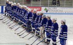 The Sartell boys hockey team wins on Senior night