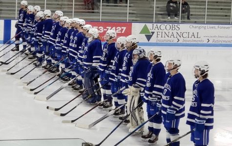 The Sartell boys hockey team wins on Senior night