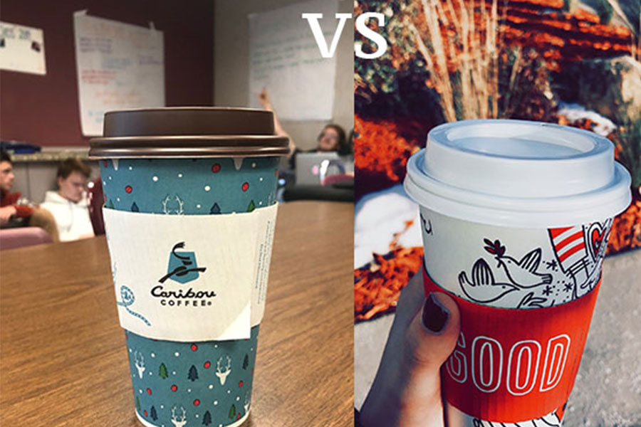 Starbucks and Caribou Coffee are the best places in town to stop for some caffeine.