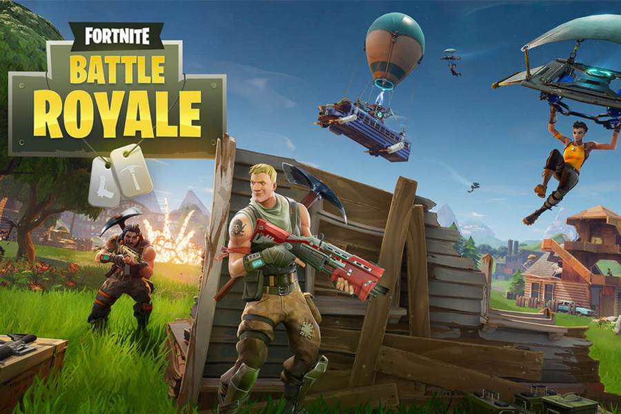 Loading screen for popular battle royal game, Fortnite