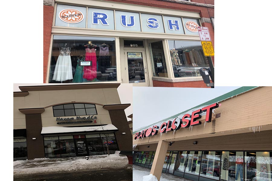 These are pictures of all the thrifty stores that we went to.
