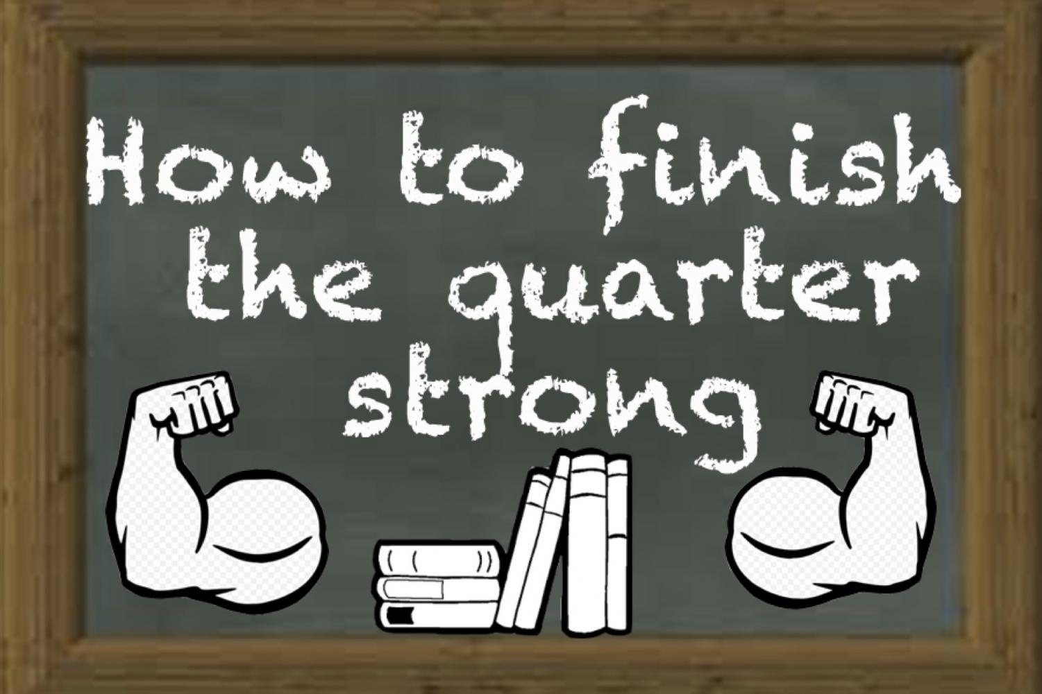 With the quarter coming to an end, it is important to stay on top of your work and finish strong!