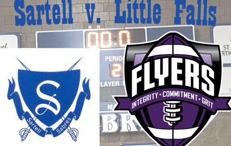 The Sartell Sabres battled against the Little Falls Flyers on Tuesday, March 5.