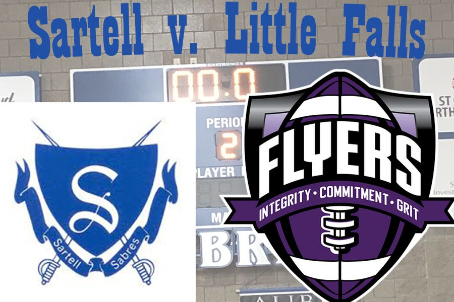 The+Sartell+Sabres+battled+against+the+Little+Falls+Flyers+on+Tuesday%2C+March+5.