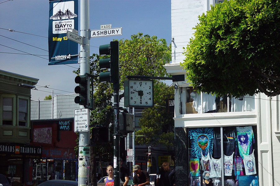 Haight-Ashbury is well known for its propelling of hippie culture in to the masses.