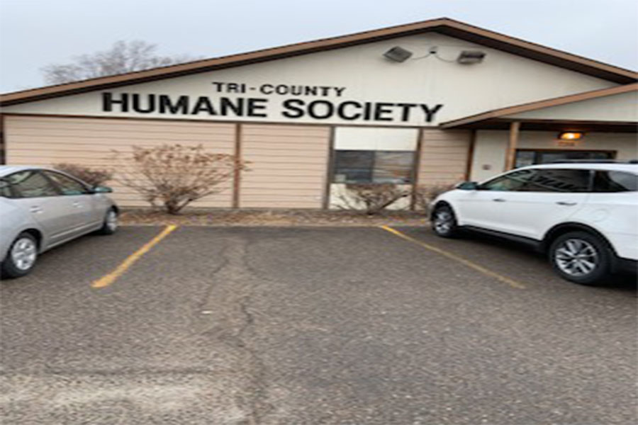 This is the main entrance of the Tri County Humane Society in St. Cloud Minnesota.