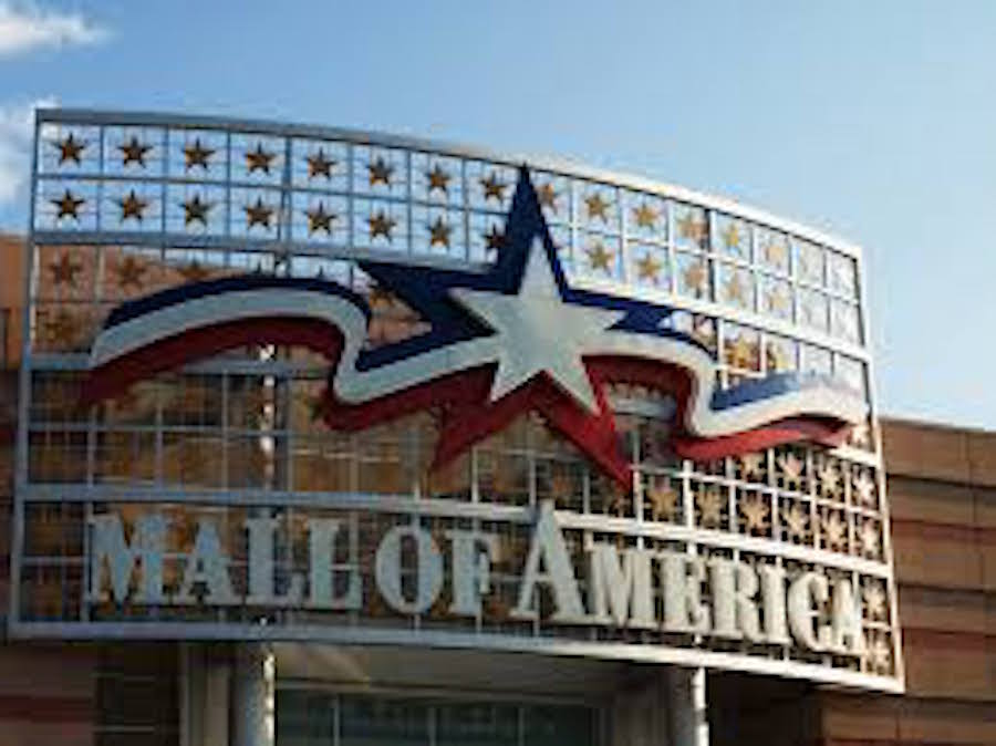 The entrance sign of Mall of America in Bloomington, Minnesota.