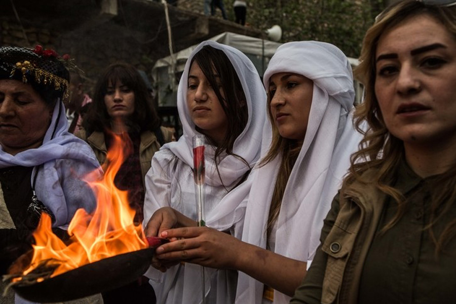 Yazidi Iraqi women have been held captive for five years, but now freedom means leaving behind young children.