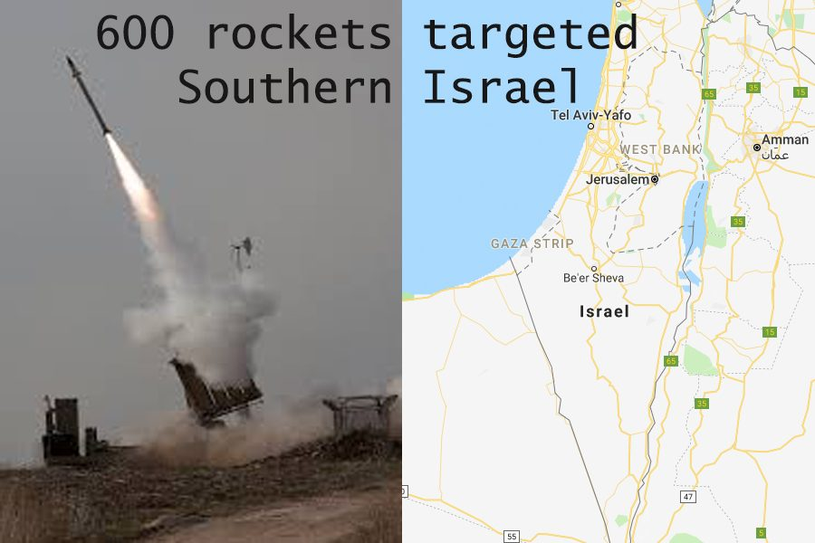 600+rockets+targeted+Southern+Israel