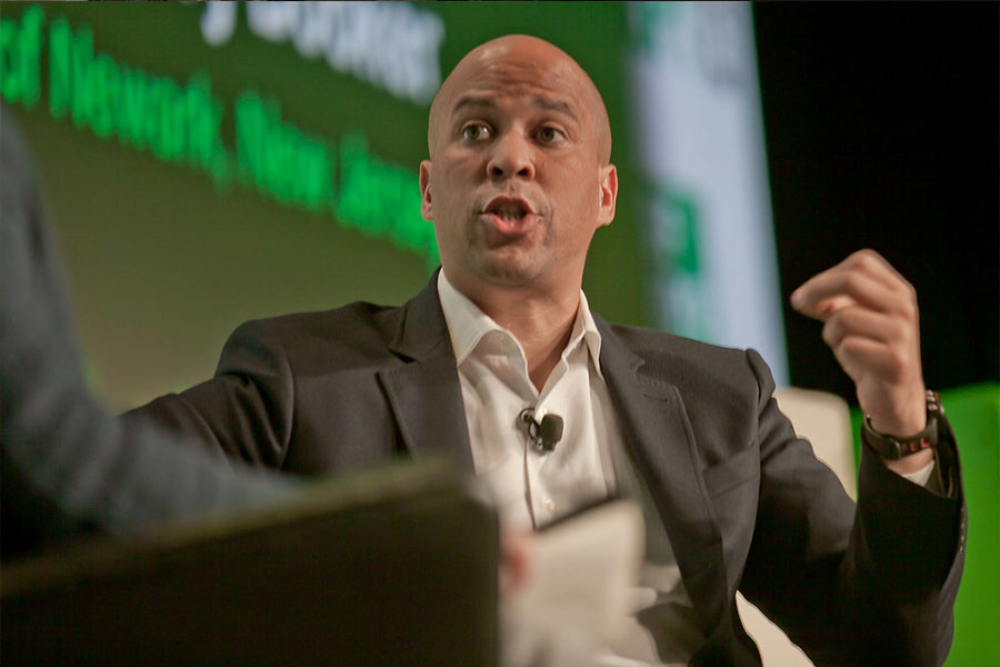 Cory Booker getting everyone pumped up for the future.