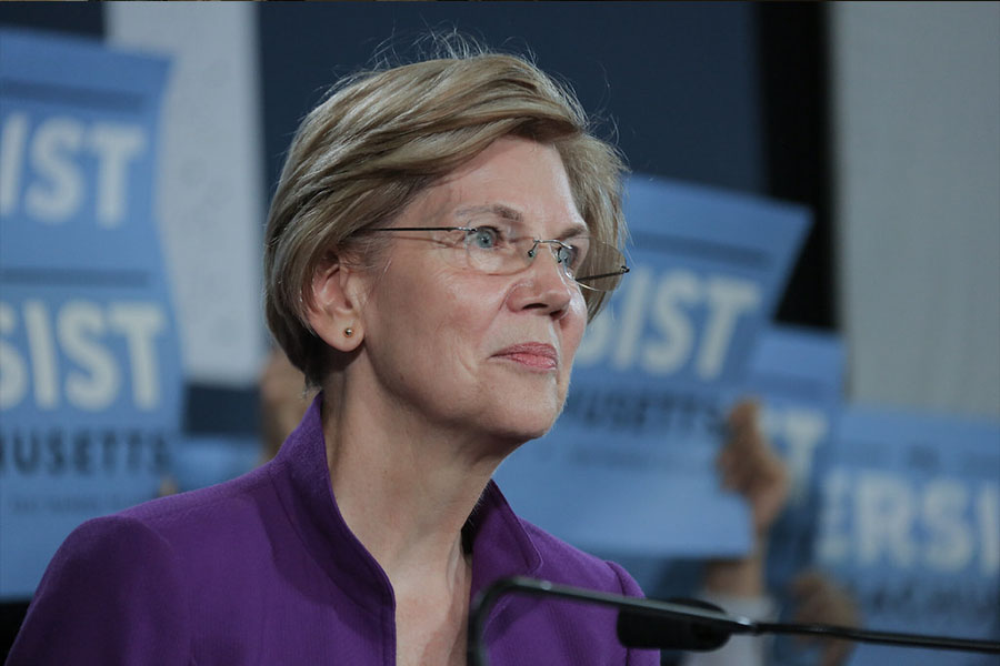 Elizabeth Warren taking things seriously, and planning for the future with her as president.