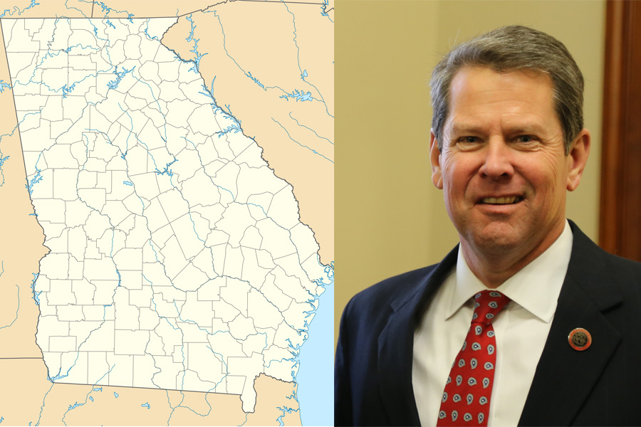 Georgia's governor, Brian Kemp signs a bill banning abortions after a fetal heartbeat.