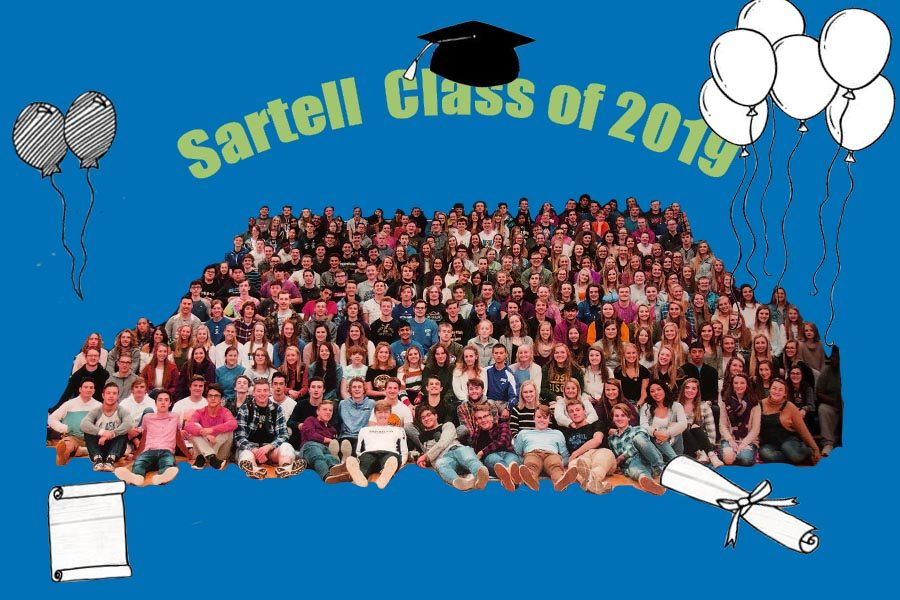 Collage+of+the+Class+of+2019%2C+created+by+Alexis+Miller%2C+photographed+by+Angie+Heckman
