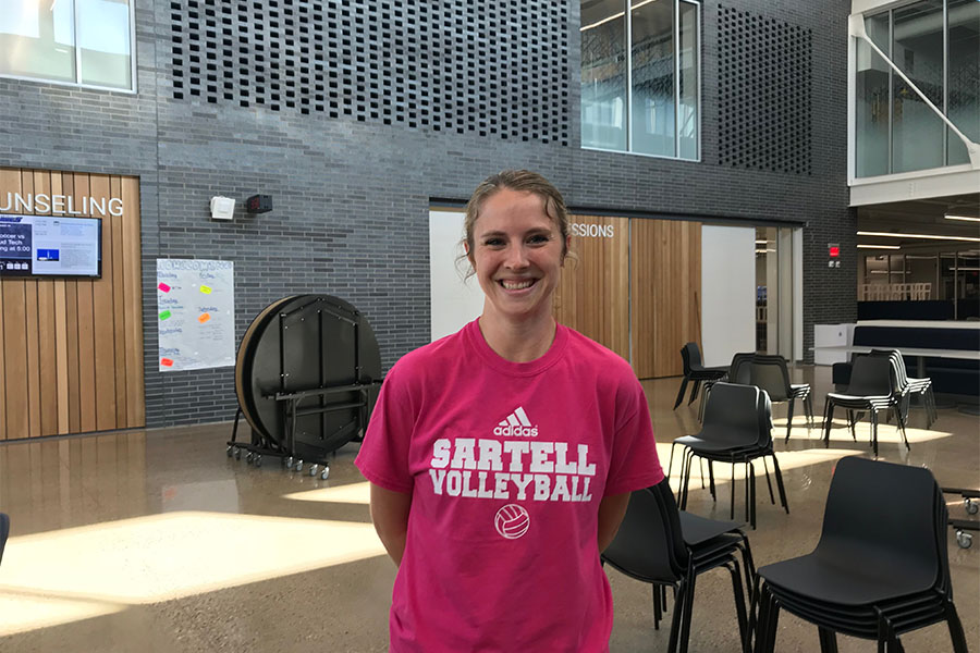 Head Volleyball Coach Sarah Hornseth is proud of her team and what they've accomplished so far this season.