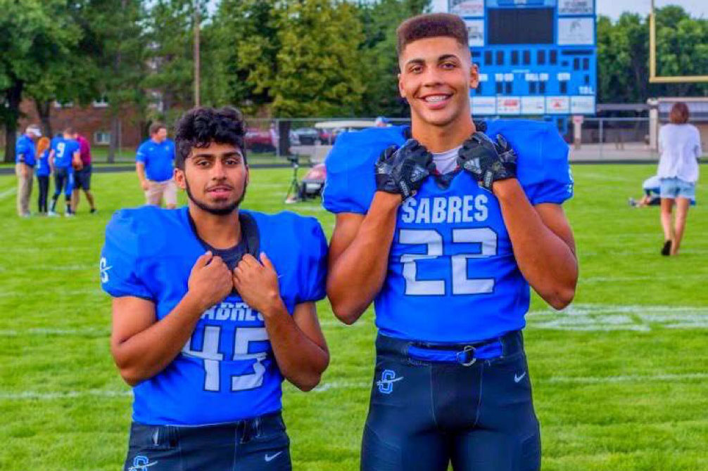 Jacob and Abdul ready for their senior season of football.