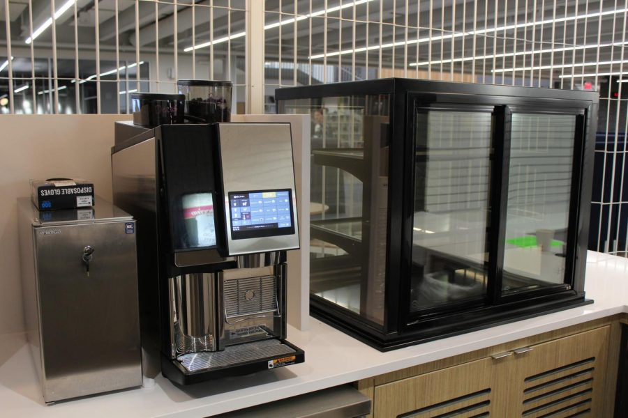 Machines located in the Sartell High School coffee shop
