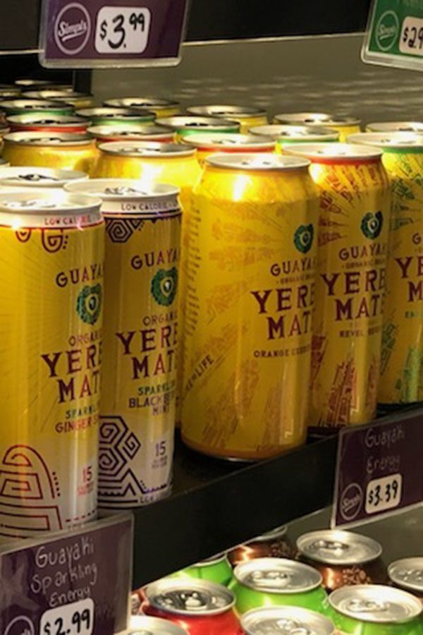 Guayaki on display at our local grocery stores for people to easily grab