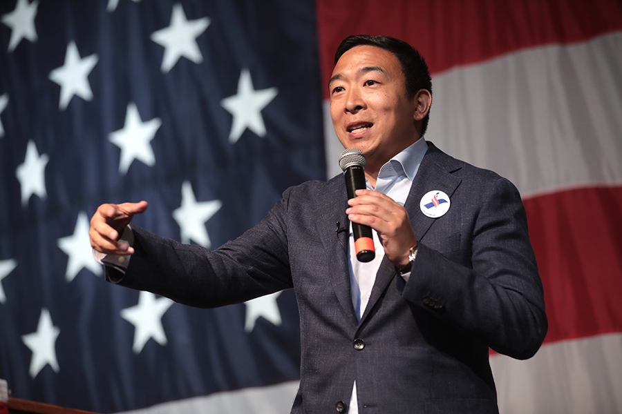 Andrew Yang is an American 2020 Democratic presidential candidate and lawyer
