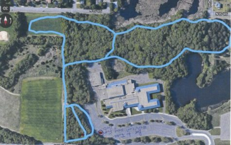 A map of the new 5k Sartell Nordic Ski trail to help bring the team to another successful season.